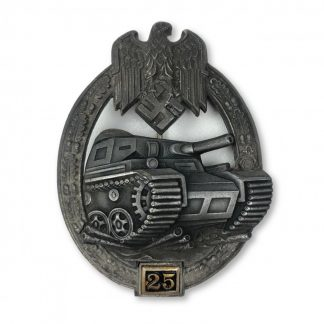 Original WWII German Panzer Assault badge '25' Gustav Brehmer