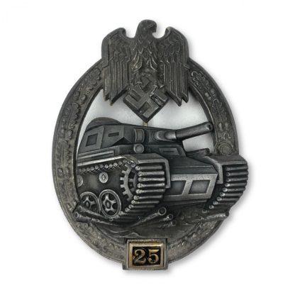 Original WWII German Panzer Assault badge '25' Gustav Brehmer