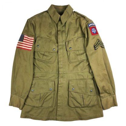 Original WWII US M42 paratrooper jump smock 82nd Airborne division
