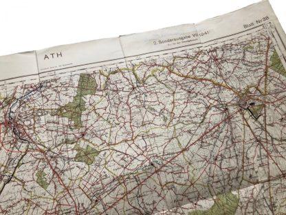 Original WWII German Heereskarte (map) Ath Belgium