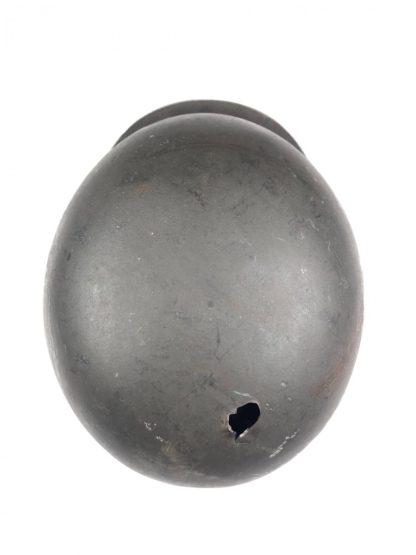 Original WWII German M40 ND helmet with battle damage
