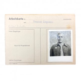 Original WWII German OST Arbeiter (forced labour) workers pass