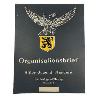 Original WWII Flemish Hitler-Jugend Organisationsbrief Flandern
