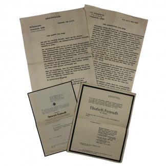 Original WWII German death notices and letters