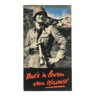 Original WWII Dutch Waffen-SS volunteer recruitment folder/poster