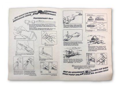 Original WWII German Panzerfaust instruction flyer