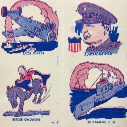 Original WWII US Children tattoo's