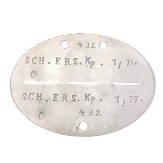 Original WWII German Erkennungsmarke Schwere-Ersatz-Kompanie 1/77