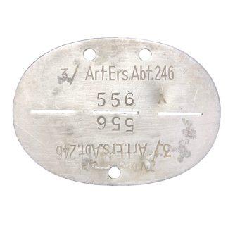 Original WWII German Erkennungsmarke 'Artillerie-Ersatz-Abteilung 246'
