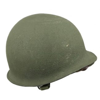 Original WWII US M1 helmet with factory paper