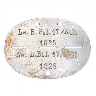 Original WWII German Erkennungsmarke 'Luftwaffe-Bau-Battalion 17/XIII' Originele WWII Duitse erkennungsmarke Luftwaffe-Bau-Battalion 17/XIII