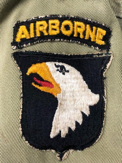 Original WWII US 101st Airborne division M42 jump smock