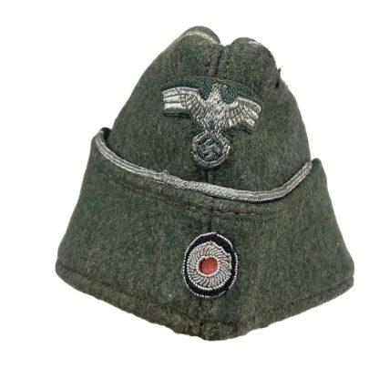 Original WWII German WH officers side cap