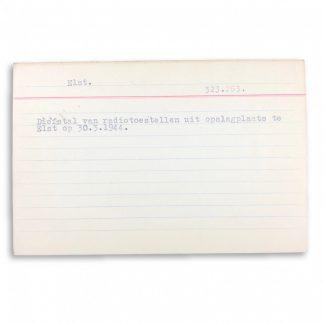 Original WWII Dutch NSB archive card Originele WWII Nederlandse NSB archief kaart
