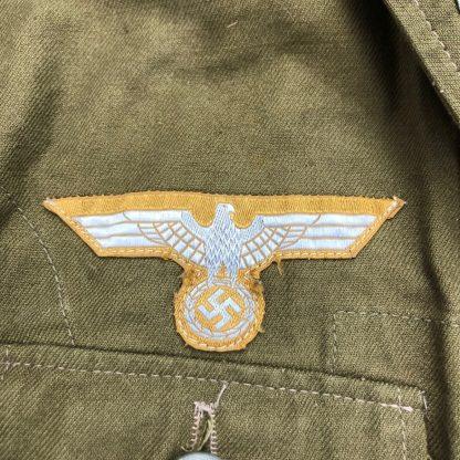 Original WWII German WH 3rd pattern tropical uniform Originele WWII Duits WH 3de model tropisch uniform