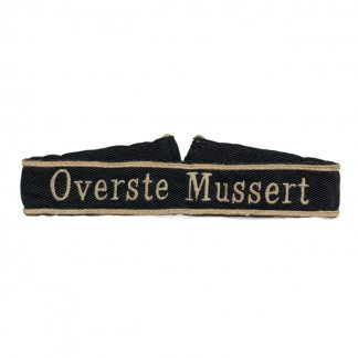 Original WWII Dutch NSB cuff title 'Overste Mussert'