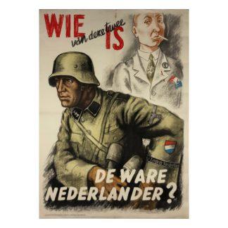 Original WWII Dutch Waffen-SS poster 'De ware Nederlander'