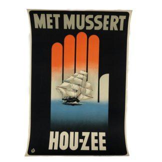 Original WWII Dutch NSB recruiting poster 'Hou-Zee'