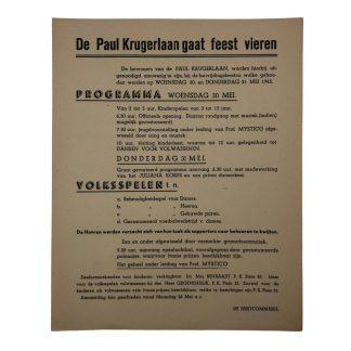 Original WWII Dutch liberation poster Den Haag 1945 Originele WWII Nederlandse bevrijdingsposter Den Haag