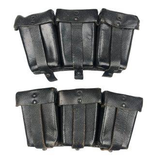Original WWII German set K98 ammo pouches 0/1001/0038