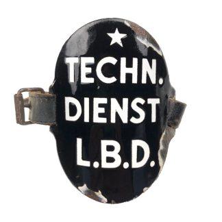 Original WWII Dutch 'Luchtbeschermingsdienst' arm shield Technische Dienst