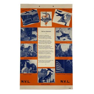 Original WWII Dutch 'Luchtbeschermingsdienst' carton sign