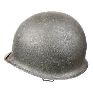 Original WWII US M1 swivel bale front seam helmet