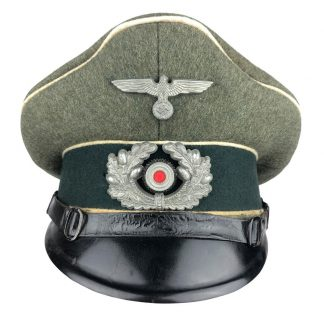 Original WWII German WH NCO Infantry visor cap