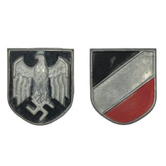 Original WWII German tropical pith shields
