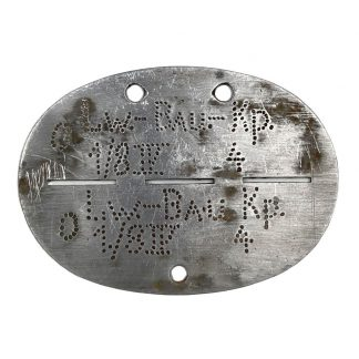Original WWII German Erkennungsmarke 'Luftwaffe-Bau-Kompanie 1/8 IV'