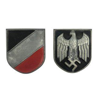 Original WWII German tropical pith shields