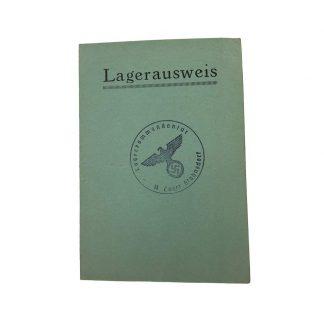 Original WWII German SS Lager Stahnsdorf ausweis Originele WWII Duitse SS Lager Stahnsdorf Ausweis