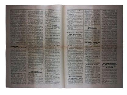 Original WWII Dutch N.S.N.A.P. newspaper