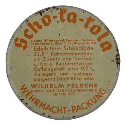Original WWII German WH Scho-Ka-Kola tin Origineel WWII Duits Scho-Ka-Kola blikje