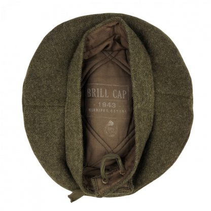 Original WWII Canadian Brill-Cap beret 1943 Originele WWII Canadese baret 1943