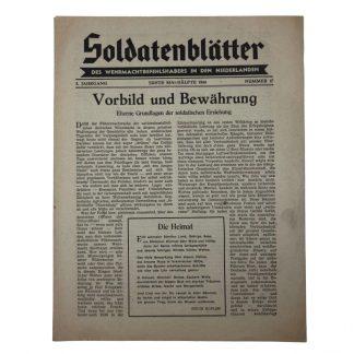 Original WWII German 'Soldatenblätter des Wehrmachtbefehlshabers in den Niederlanden' 1944