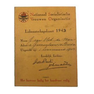 Original WWII Dutch N.S.V.O. member card Breda Origineel WWII Nederlands N.S.V.O. lidmaatschap kaart Breda