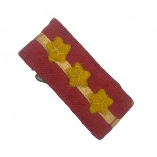 Original WWII Japanese collar tab Sergeant Major Originele WWII Japanese kraagspiegel Sergeant Majoor