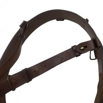 Original Pré 1940 Dutch 'Sam Brown' belt Originele Pré 1940 Nederlandse 'Sam Brown' riem