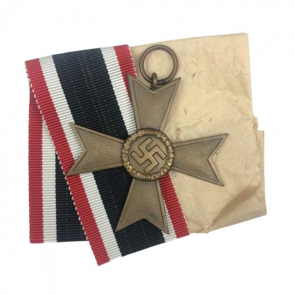 Original WWII German War merit Cross without swords – 1 Deschler Origineel WWII Duits kriegsverdiensten kruis – 1 Deschler