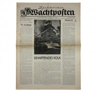 Original WWII German newspaper 'Zeeländer Wachtposten' – Zeeland