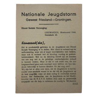Original WWII Dutch Jeugdstorm flyer Friesland & Groningen