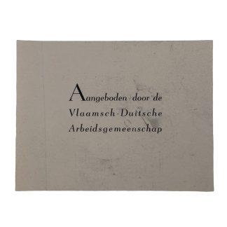 Original WWII Belgian label Vlaamsch-Duitsche Arbeidsgemeenschap