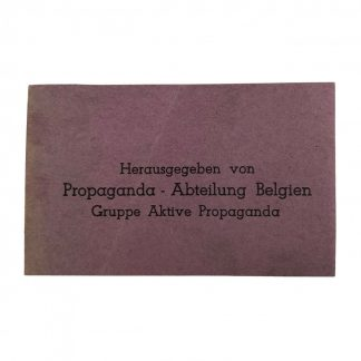Original WWII German label 'Abteilung Belgien Gruppe Aktive Propaganda'