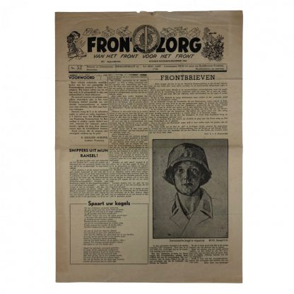 Original WWII Dutch Frontzorg newspaper