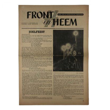 Original WWII Dutch Waffen-SS volunteer newspaper Front en Heem 17 december 1943