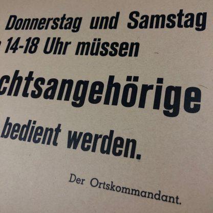 Original WWII German Wehrmacht carton sign