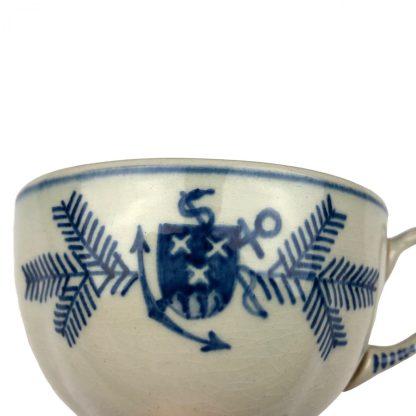Original WWII German Kriegsmarine 'Marine Lazarett' Bergen op Zoom porcelain cup & saucer