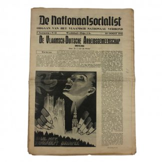 Original WWII Belgian VNV 'De Nationaalsocialist' newspaper