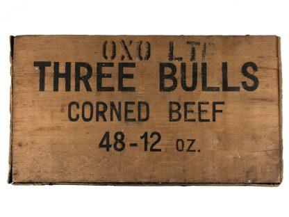 Original WWII British corned beef crate